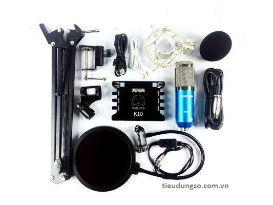 Trọn bộ combo phụ kiện mic thu âm BM-900