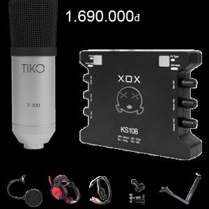 Combo Mic Thu Âm Tiko T100