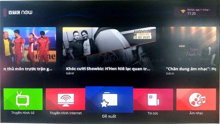 Giao diện box VTV Now